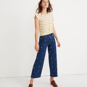 Madewell Wide-Leg Crop Jeans: Confetti Floral Edit